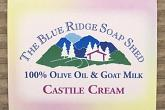 Wrapped Bar of Castile Cream Goat Milk Soap with 100% Olive Oil