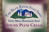 Wrapped Bar of Spiced Plum Goat Milk Soap