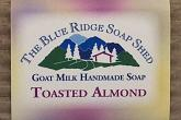 Wrapped Bar of Toasted Almond Goat Milk Soap
