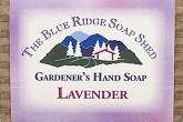 Wrapped bar of Lavender Gardeners Hand Soap photo