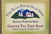 Wrapped Bar of Ginger Tea Tree Soap for Diabetic Feet photo