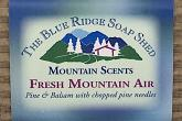 Wrapped Bar of Fresh Mountain Air Soap with Balsam and Pine Needles photo