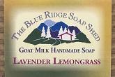Wrapped Bar of Lavender Lemongrass Goat Milk Soap photo
