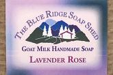 Wrapped Bar of Lavender Rose Goat Milk Soap photo