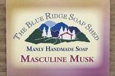Wrapped bar of Masculine Musk Goat Milk Soap for Men photo
