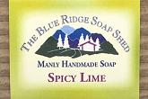 Wrapped bar of Spicy Lime Goat Milk Soap for men photo
