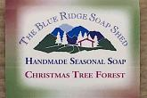 Wrapped Bar of Christmas Tree Forest Handmade Soap photo
