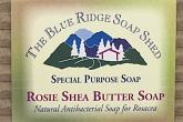Wrapped Bar of Rosie Shea Butter Soap for Rosacea